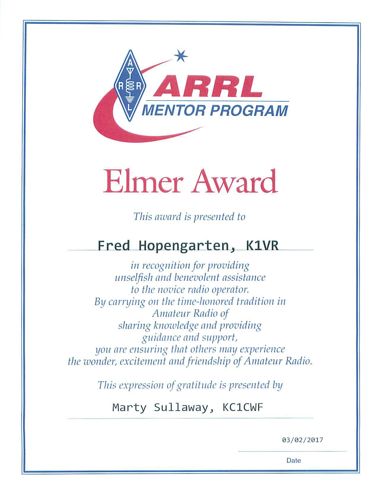Elmer Award
